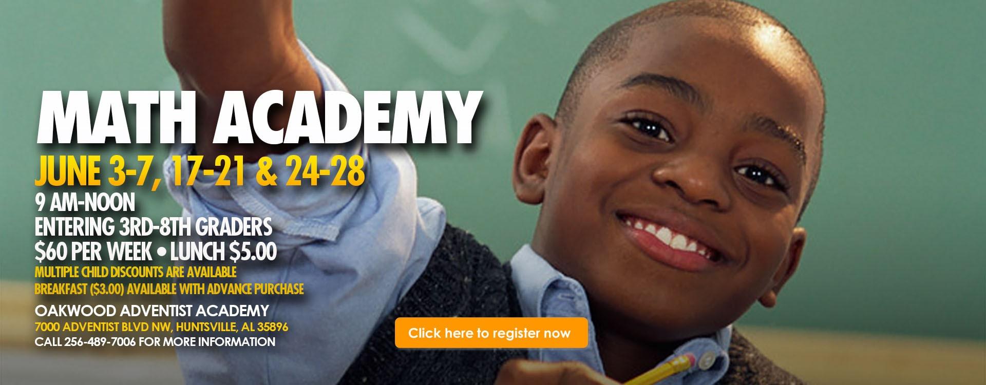 Math Academy – Web Banner