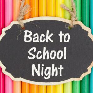 7-12 Back to School Night