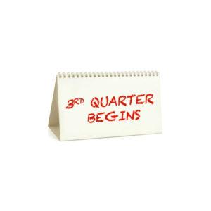 3rd quarter begins