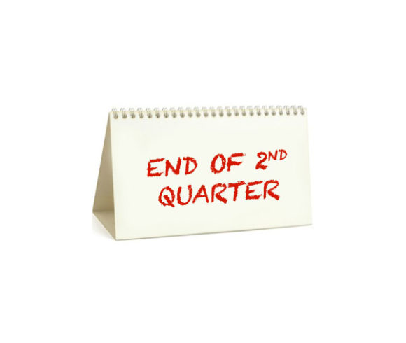 End of 2nd quarter